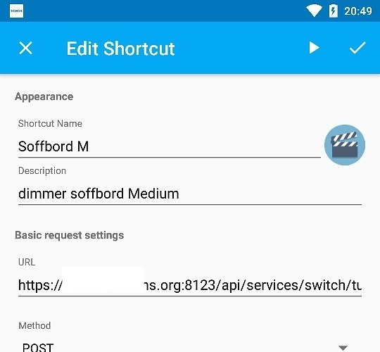 HTTP Shortcuts for Android - what is wrong? - Third party