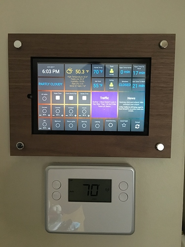 Wall mounted touchscreen - Share your Projects! - Home Assistant