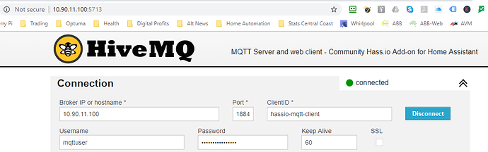 Community Hass io Add-on: MQTT Server & Web client - Hass io