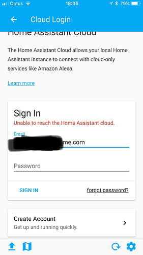 Cloud Update - Home Assistant