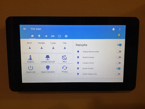 Support for the official Raspberry Pi touch display on Hass