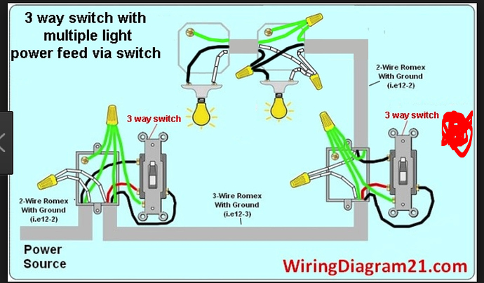 3 Way Toggle Switch Wiring Diagram Multiple Light
