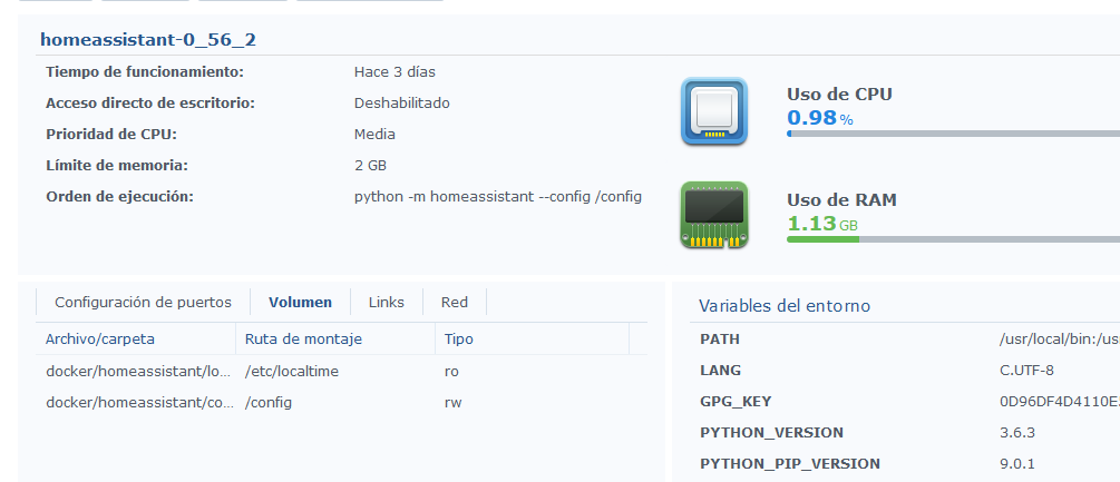 Installation of Hassio on Synology NAS - Installation - Home