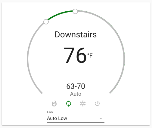 Home Assistant Thermostat Card