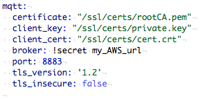 Service mqtt publish not found' when attempting to use AWS