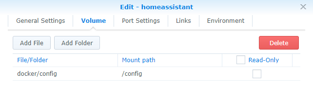 Home Assistant setup with Synology NAS - Configuration