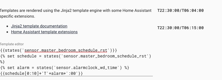 Need correct data_template to set schedule in Hue api using