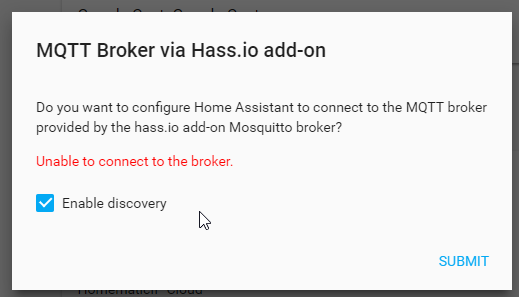 Error during setup of component mqtt - Hass io - Home Assistant