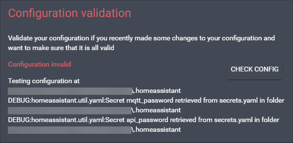Hassio secrets config error - Hass io - Home Assistant Community